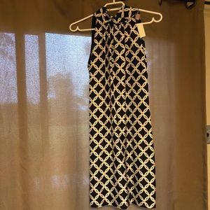 New Silk Pink Tartan Halter Dress